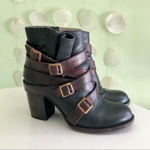 Freebird Steven Leather Hustle Strappy Ankle Boots